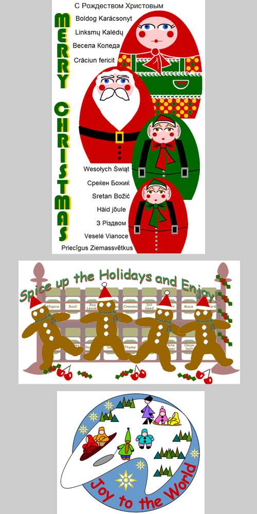 collection of Holiday Graphics